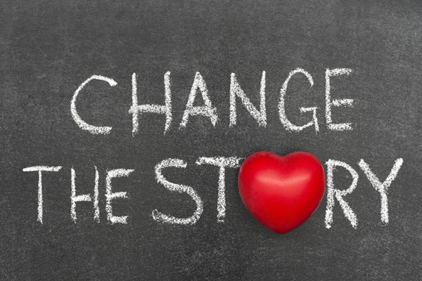 """Change the Story"" Motivation Image"